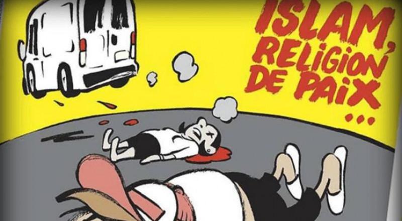 """"""" شارلي إيبدو"""" تتناول هجمات إسبانيا الإرهابية بكاريكاتير مسيء للإسلام"""