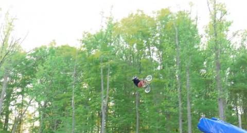 القفزة مستحيلة بالدراجة الهوائية