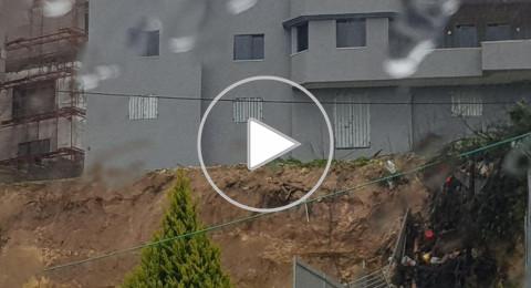 بالفيديو: انهيار جدران في وادي عارة، وفي الناصرة وأضرار كبيرة