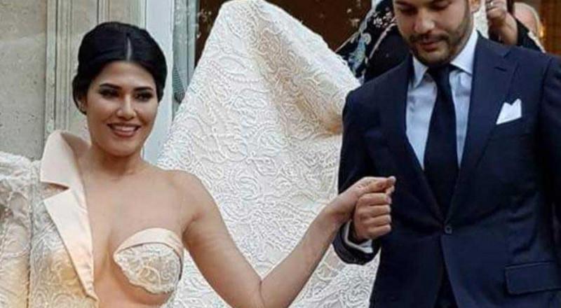 فنانة تونسية تثير الجدل بفستان زفافها الجريء
