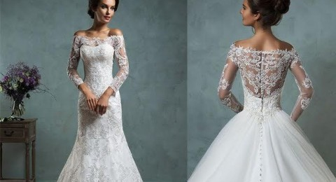 موديلات فساتين زفاف 2016 بدون أكتاف