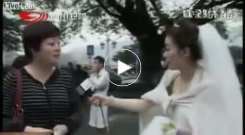 مراسلة تترك زفافها لبث تقرير عن زلزال الصين!