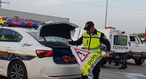 بئر السبع : 3 شبان عرب يهاجمون افراد دورية شرطة مرور