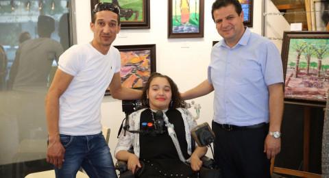 نجاح كبير لمعرض الطفلة الفلسطينية ماريا