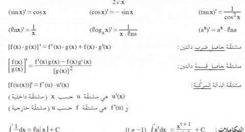 تسريب اجزاء من امتحان بجروت الرياضيات