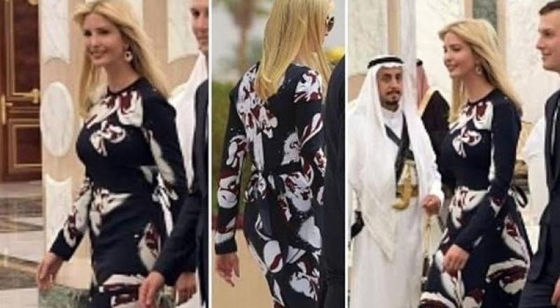 نفاد كل الكميات المعروضة من فستان إيفانكا الذي ارتدته في السعودية