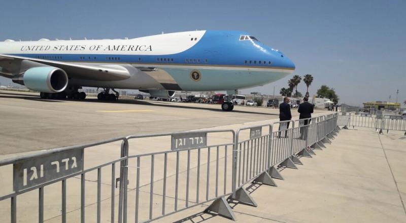 الرئيس الأمريكي دونالد ترامب يصل إسرائيل وحراسة أمنية مشددة