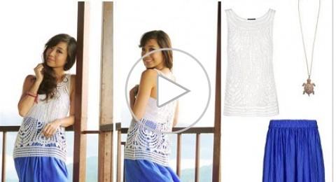 بالفيديو 10 طرق مختلفة لارتداء التنور الطويلة