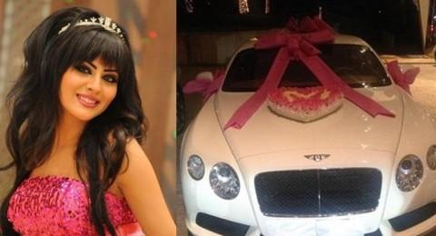 والد مريم حسين يهديها سيارة بنتلي فارهة بمناسبة عيد ميلادها