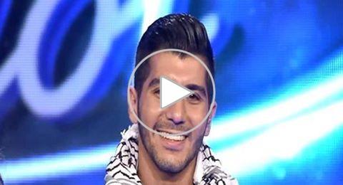 Arab Idol: الفلسطيني هيثم خلايلة بالكوفية غنّى، فرقص وائل ووقفت أحلام