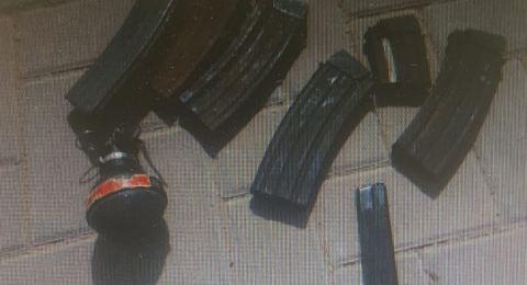 العثور على اسلحة في الرملة