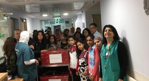 تدشين  وتجهيز مكتبة قسم جراحة الاطفال في مستشفى الناصرة الانكليزي