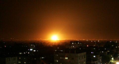 الطائرات الاسرائيلية تشن غارات على قطاع غزة