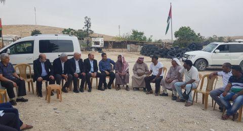 نواب الحركة الاسلامية (القائمة العربية الموحدة ) في القائمة المشتركة في زيارة تضامن مع الأهل في قرية الخان الأحمر