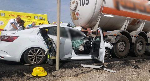 حادثة تسفر عن اصابة بالغة لرجل عند مفترق عسقلان