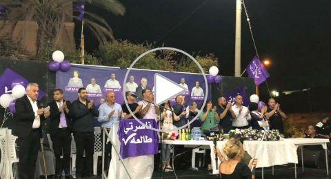 اجتماع حاشد لقائمة ناصرتي ورئيسها علي السلام في حي الفاخورة في الناصرة