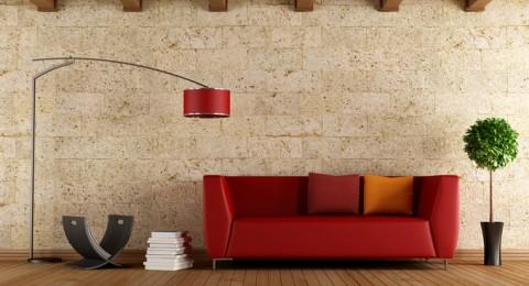 روعة اللون الأحمر في ديكور غرفة المعيشة