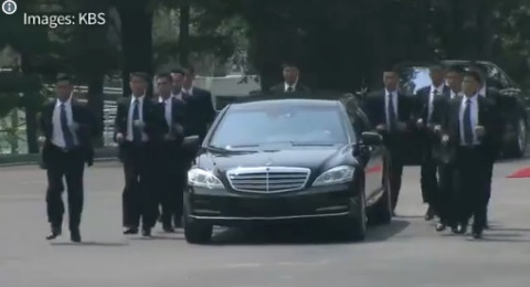 كيم يستعين بعشرات الحراس لمرافقته في لقاء القمة بين الكوريتين