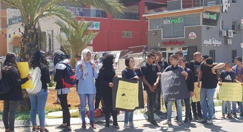 ام الفحم: طلبة اعدادية النسور يتظاهرون ضد العنف ومقتل زميلهم