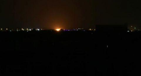الطائرات الاسرائيلية تقصف ميناء غزة وموقعا للمقاومة بدير البلح