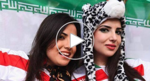 مشجعون إيرانيون يعربون عن حبهم لإسرائيل