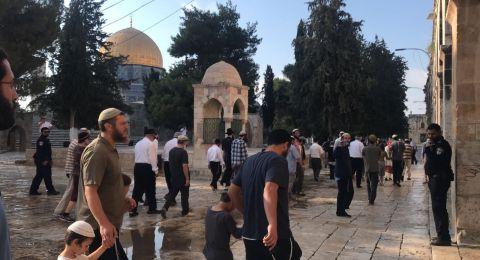 عشرات المستوطنين يستبيحون المسجد الأقصى