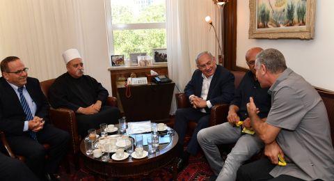 لقاء بين نتنياهو والشيخ طريف دون وعودات بتغيير قانون القومية!