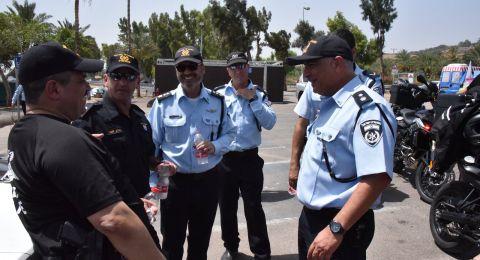 المفتش العام للشرطة، روني الشيخ يفتتح مركز شرطة الجديد في بحيرة طبريا.