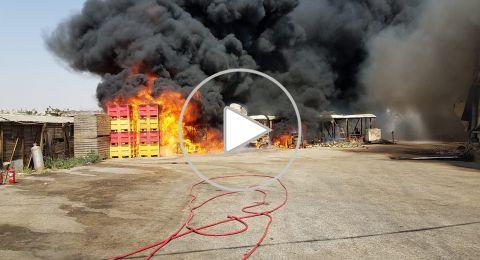 حريق هائل بالقرب من جفعات زئيف