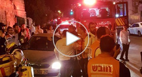 القدس: حريق في بناية سكنية يسفر عن 6 اصابات