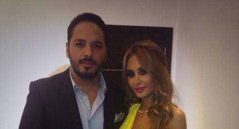 زوجة رامي عياش تخطف الأنظار بفستانها الأصفر الرائع
