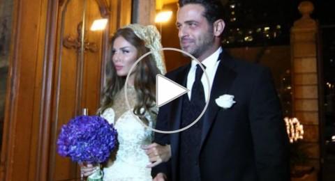هل شاهدتم صور الزوجان الجميلان يوسف الخال ونيكول سابا يوم زفافهما؟!