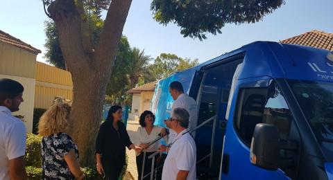 زيارة المراقبة على البنوك في بنك اسرائيل لبنك العمّال في راهط وفرع لئومي المتنقل في عومر