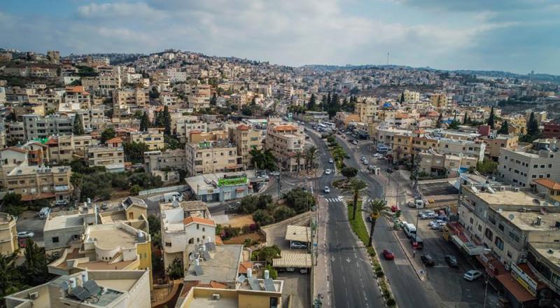 أعمال تطوير لتعزيز الأمان في الشارع الرئيسي في يافة الناصرة