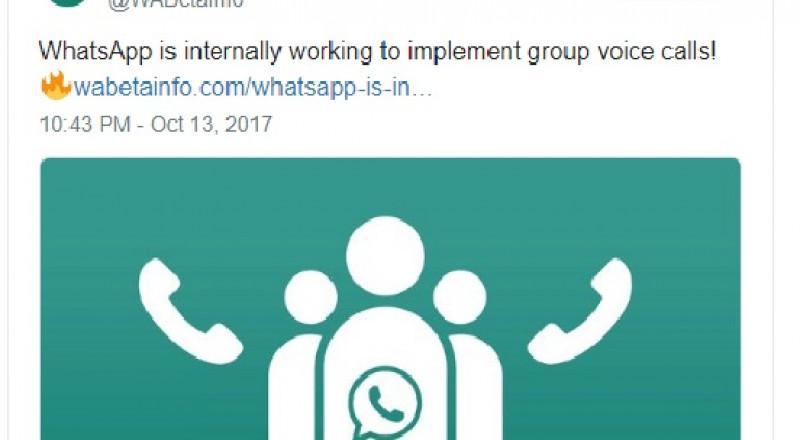 واتسآب تتيح ميزة المكالمات الصوتية والفيديو ضمن المجموعات