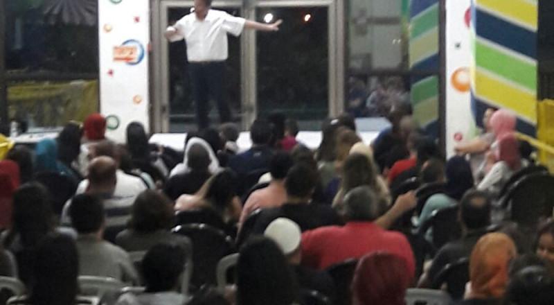 محاضرة قيمة للمدرب اشرف قرطام في معرض الكتاب بكنيون كنعان يركا