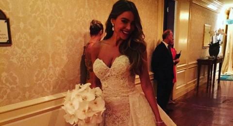 """صوفيا فيرغارا تختار ثوب زفافها من """"زهير مراد"""""""