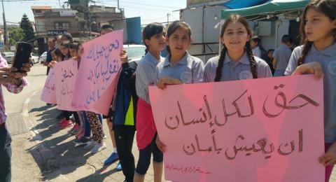 كفر مندا: الأهالي يتظاهرون ضد اعمال العنف في بالبلدة
