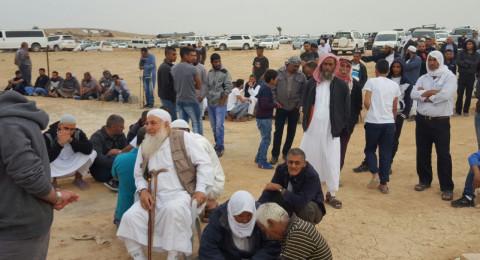 النقب يشيع جثمان الطفلين ابو قويدر