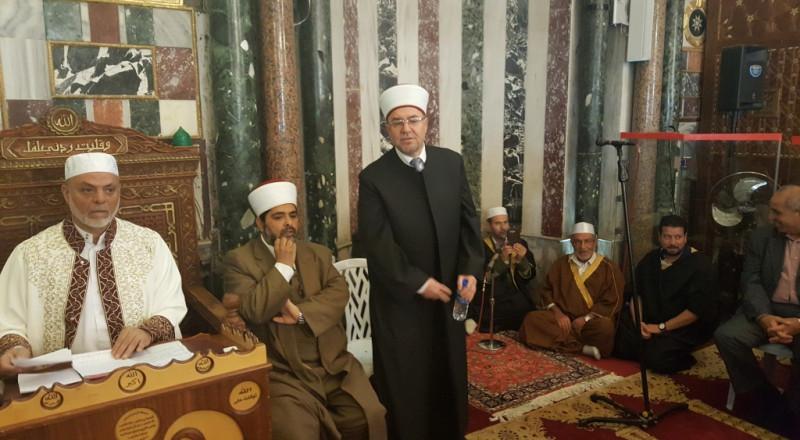 القدس: الاوقاف الاسلامية تحتفل بذكرى الاسراء والمعراج