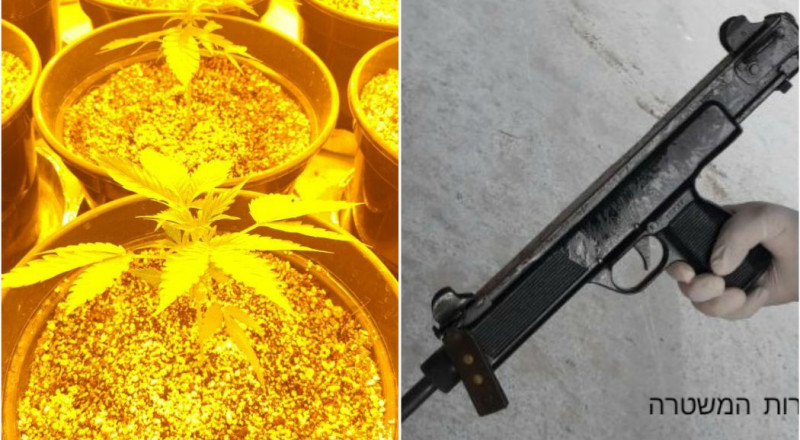 سلاح ومخدرات في كفر قرع .. واعتقال 3 مشتبهين
