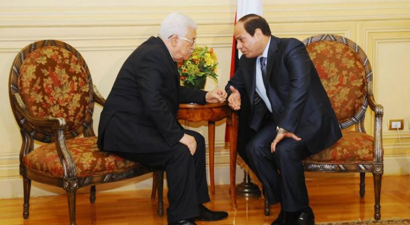 عباس يبحث مع السيسي التطورات على الساحة الفلسطينية