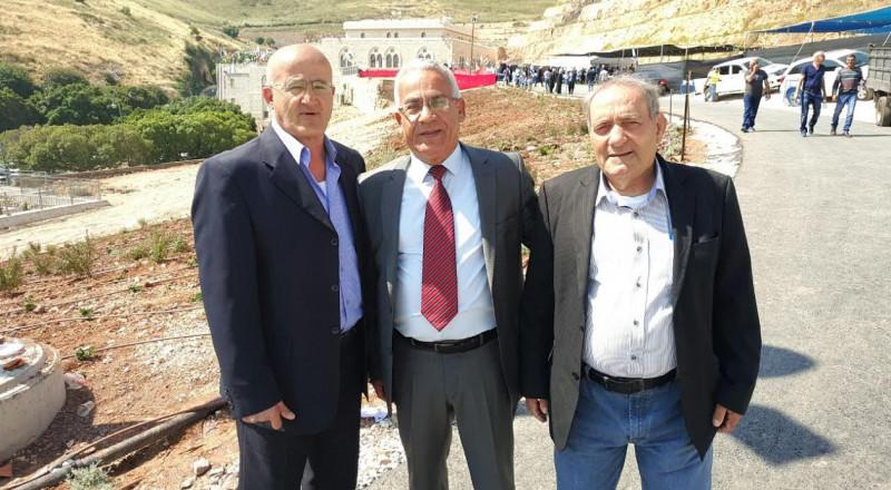 تهنئة رئيس بلدية شفاعمرو امين عنبتاوي بمناسبة زيارة مقام النبي شعيب عليه السلام
