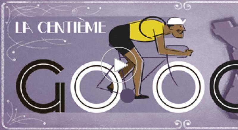 جوجل تحتفل بمرور 100 عام على سباق تور دو فرانس