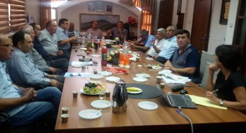 جلسة هامة في مجلس الشبلي أم الغنم لإقامة المنطقة الصناعية