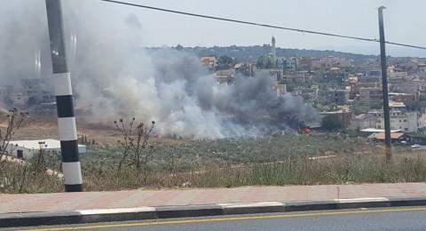 حريق في مخزن يحوي مفرقعات بالزرازير