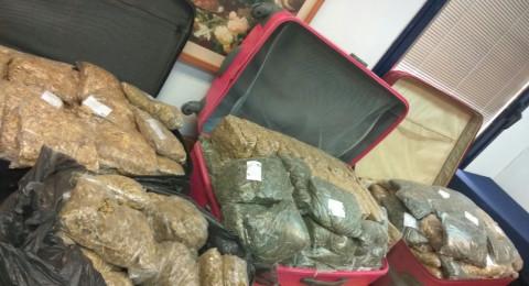 يافا تل ابيب: ضبط اكثر من نحو 50 كلغم مخدرات واعتقال مشتبهين