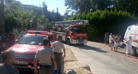 إصابة 14 شخصا في حريق بأحد الفنادق التركية