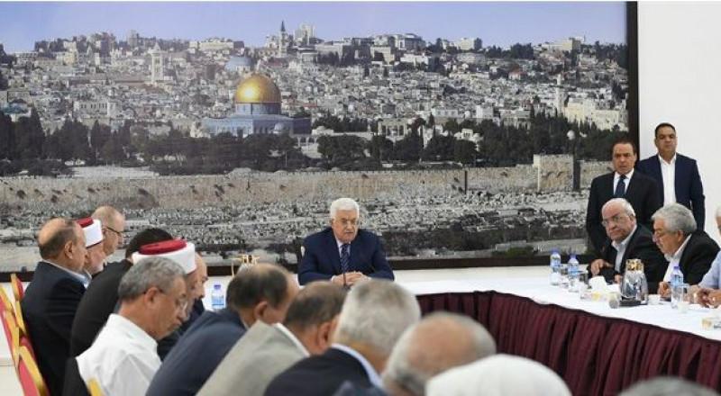 أبو مازن: يجب أن تعود الأمور في القدس إلى ما قبل 14 تموز ..وأهل القدم مفخرة لنا