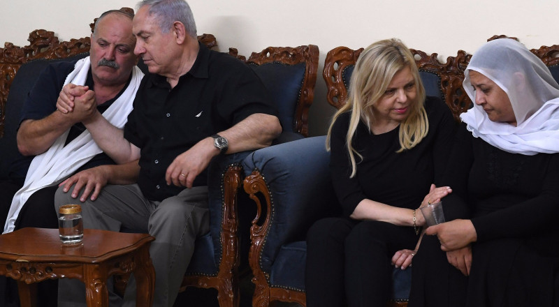 نتنياهو يقدم التعازي لعائلتي الشرطيين في حرفيش والمغار
